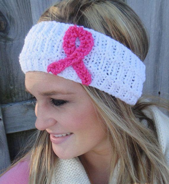 Women's Winter Knit Breast Cancer Awareness Headband