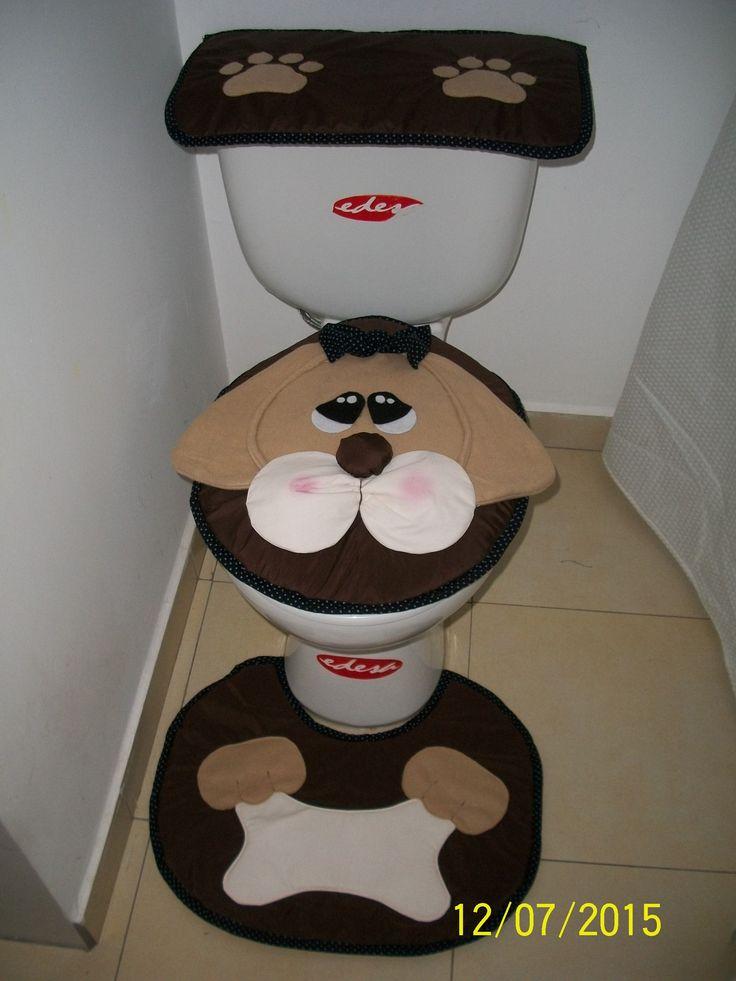 Juego de baño perrito Puppy cover toilet