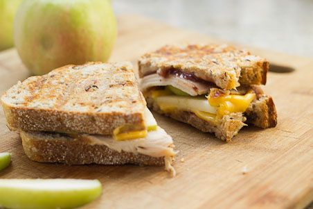 Hot Turkey, Cheddar and Apple Melts from Aviva Goldfarb on @PBS Parents Kitchen Explorers