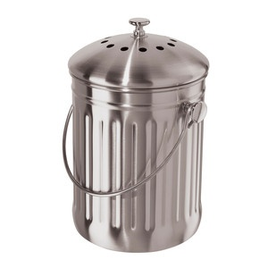Countertop Compost Pail now featured on Fab.: Compost Bins, Steel Compost, Countertops Compost, Oggi Stainless, Compost Pail, Green Kitchens, Charcoal Filters, Kitchens Counter, Stainless Steel Countertops