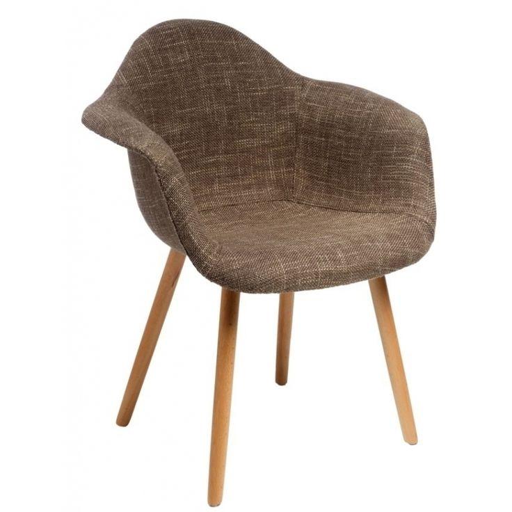 Jídelní židle s područkami Armchair, hnědá | www.designovynabytek.cz