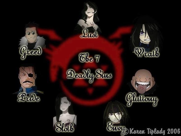 Full Metal Alchemist- Seven Deadly Sins | Anime :3 | Pinterest