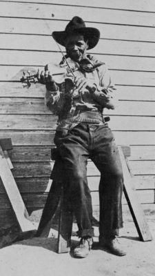 Jim Perry (1858–1918) was an African American cowboy and top hand, the highest-ranked cowboy on the three million-acre XIT Ranch Texas. Perry established himself as an expert roper, rider, bronc buster, cook, and musician.