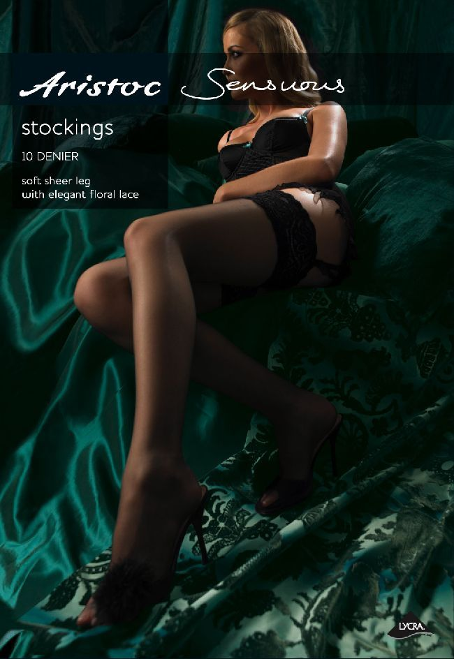 Aristoc Sensuous 10 Denier Lace Top Stockings