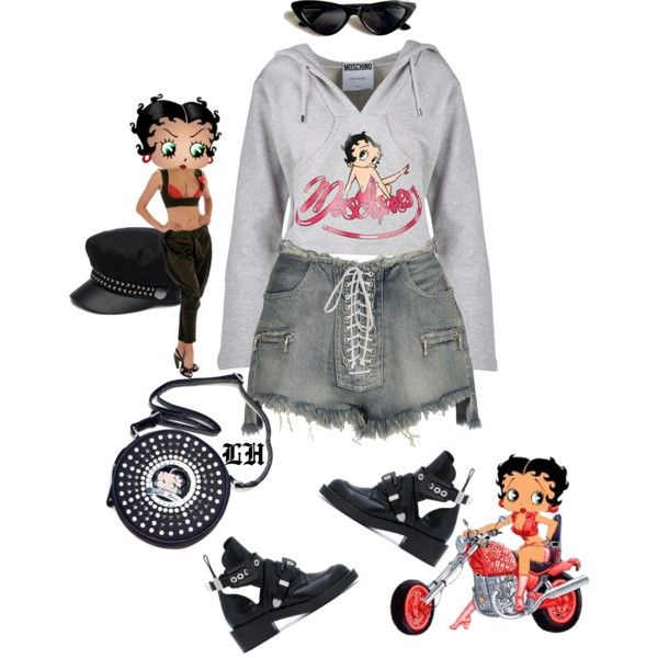 Betty Boop! by lheijl on Polyvore featuring Moschino, Unravel, Balenciaga, Betty Boop and Genie by Eugenia Kim