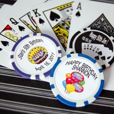 Custom Printed Birthday Poker Chips
