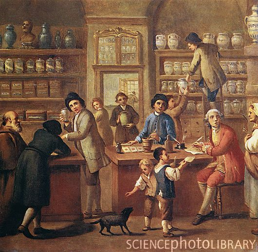 italian apothecary 18thcentury artwork showing the