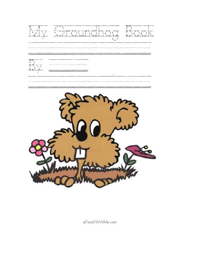My Groundhog booklet - Pinned by @PediaStaff – Please Visit ht.ly/63sNtfor all our pediatric therapy pins