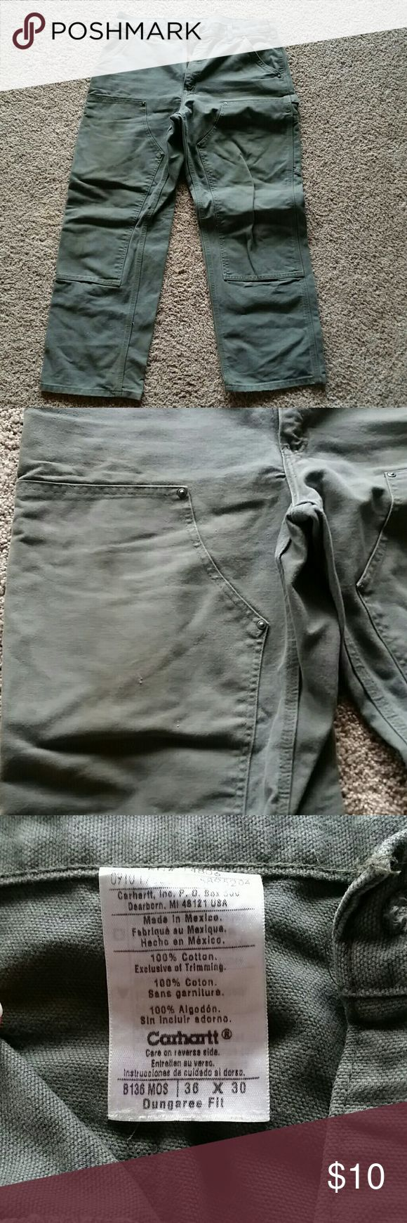 Men's Carhartt pants 36x30 Used some but overall great condition. Dusty forest/olive green. 36 waist x 30 length Carhartt Pants