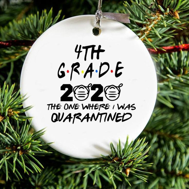 Quarantined 4th Grade Class of 2020 Christmas Ornament