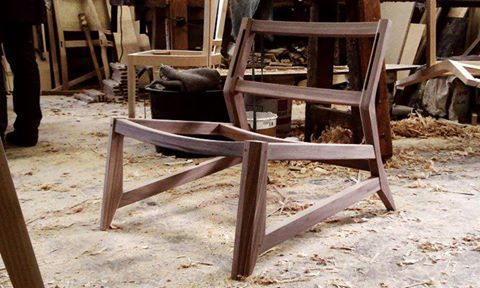 #odhin lounge chair in solid wood