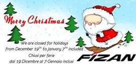 Christmas is coming! We wish you a lovely Mery Christmas and a Happy New Year! www.fizan.it
