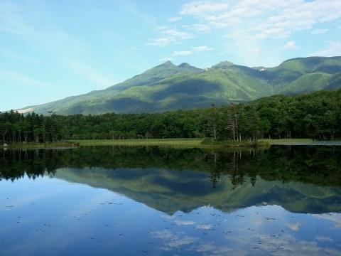 World Natural Heritage Shiretoko Japan Niko-lake 夏の知床五湖(二湖)