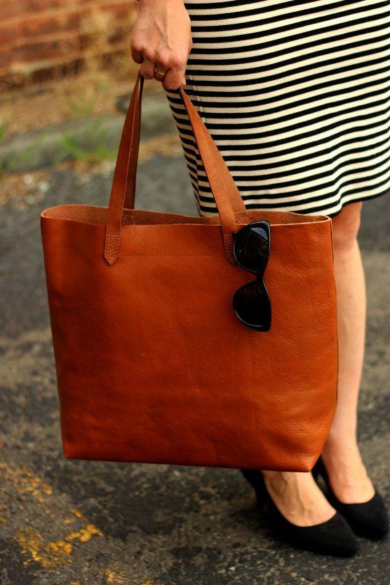 Leather Tote Bag  Madewell Transport Tote Blog 35b71690af71a