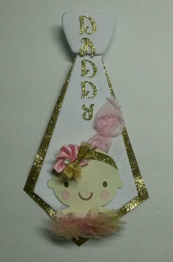 Ballerina Daddy to Be Pin tutu pink and gold by fourDOLLYSboutique