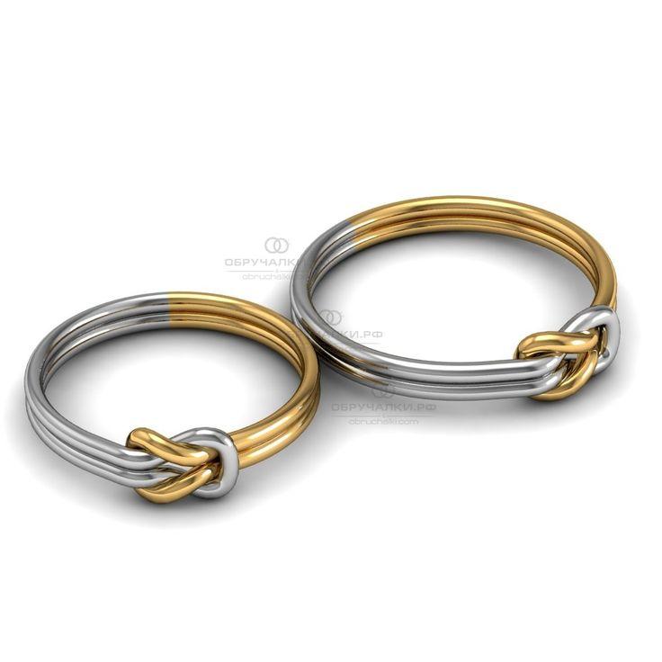 $393 27000 руб Недорогие легкие обручальные кольца из комбинированного золота