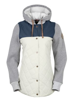 160g Polyfill Insulated Body with 1,000mm/1,000gm2 Rip Stop Shell Fabric 320g 70% Cotton/30% Poly Fleece Sleeves and Hood Front Hood Drawcord Adjustment Drawstring Hood Adjustment Air-Flo™ Vents w/ Sm
