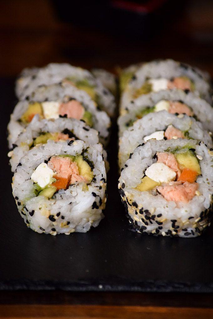 Smoked Salmon Philadelphia Roll Sushi (5)