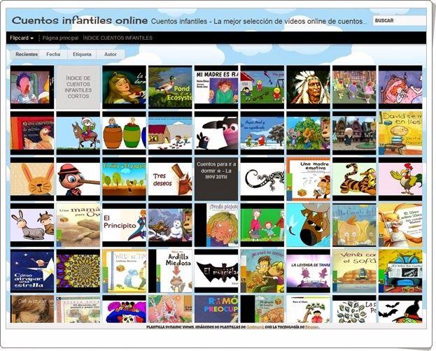 """""""Cuentos infantiles online"""" es un blog que contiene multitud de cuentos infantiles animados audiovisuales."""