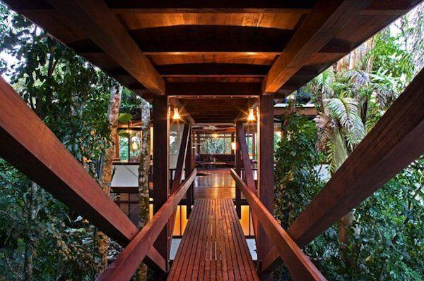 Beautiful Wooden WalkwayDreams Trees House, Sao Paulo, Dreams Home, House Trees, Contemporary House, Dreams House, Treehouse, Bridges, Modern House