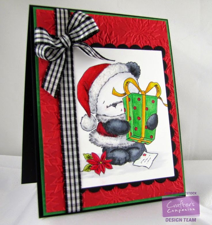 By: Kendra Wietstock; Crafter's Companion (Party Paws Christmas Collection - A Christmas Gift); Spectrum Noir Markers (IG1, IG2, IG3, IG4, IG5, IG7, IG9; BT1; FS6, GB3, GB4, GB6; DR2, DR3, DR5, DR7; LG3, LG4, LG5; DG4) and Spectrum Noir Blendable Colored Pencils: 26, 27, 48, 17, 18.
