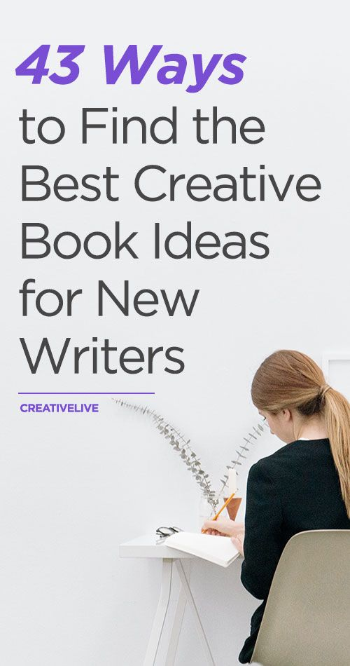 Finding the right book idea can be a challenge. Since the best inspiration comes from within, we put together 43 ways to find your personal best book idea.