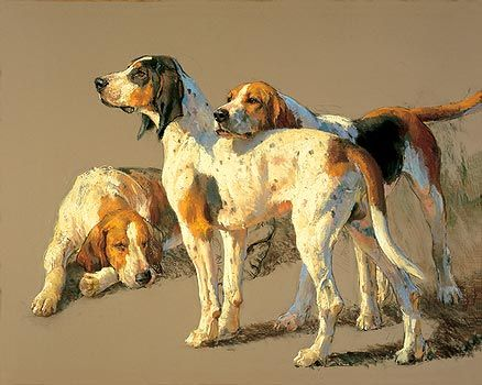 Picture of Hounds Study by Andre Pater. I just love his work. He is the sporting artist of this century!