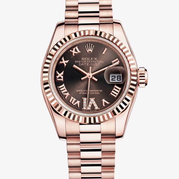 Rolex -Lady-Datejust - Cadran Appliques-or, VI serti de diamants - 179175f-0034