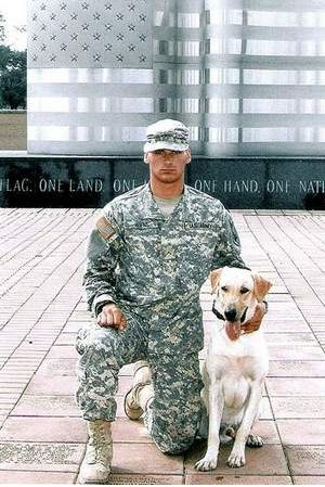 On July 6, 2007, Corporal Kory Wiens (20 years of age) and his military partner, a bomb-sniffing Labrador retriever named Cooper (approximately 4 years old), lost their lives together in Iraq by an improvised bomb.