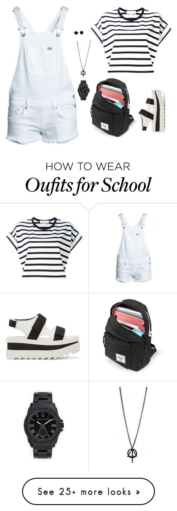 """School"" by averie-asajar on Polyvore featuring Vanessa Bruno Athé, Superdry, Vince Camuto and STELLA McCARTNEY"