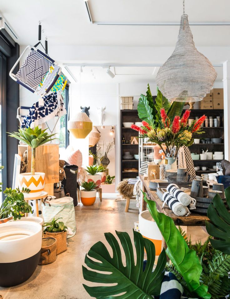 A former Christchurch pop-up store's enchanting new permanent space is an oasis of laidback style, bold graphics and tropical plants.