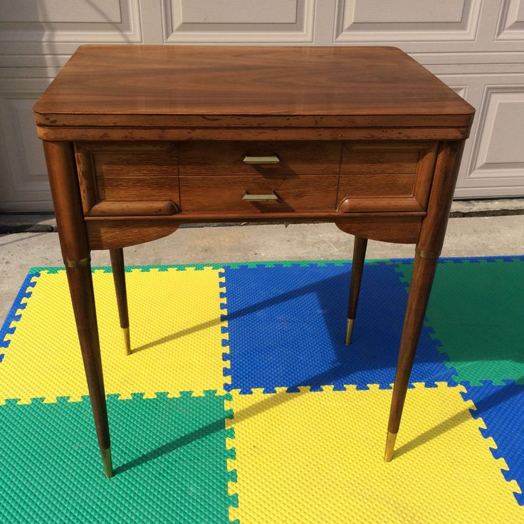 vintage empty singer 403a wood sewing machine cabinet