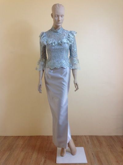 Casual thai wedding dress that women wear in the morning.