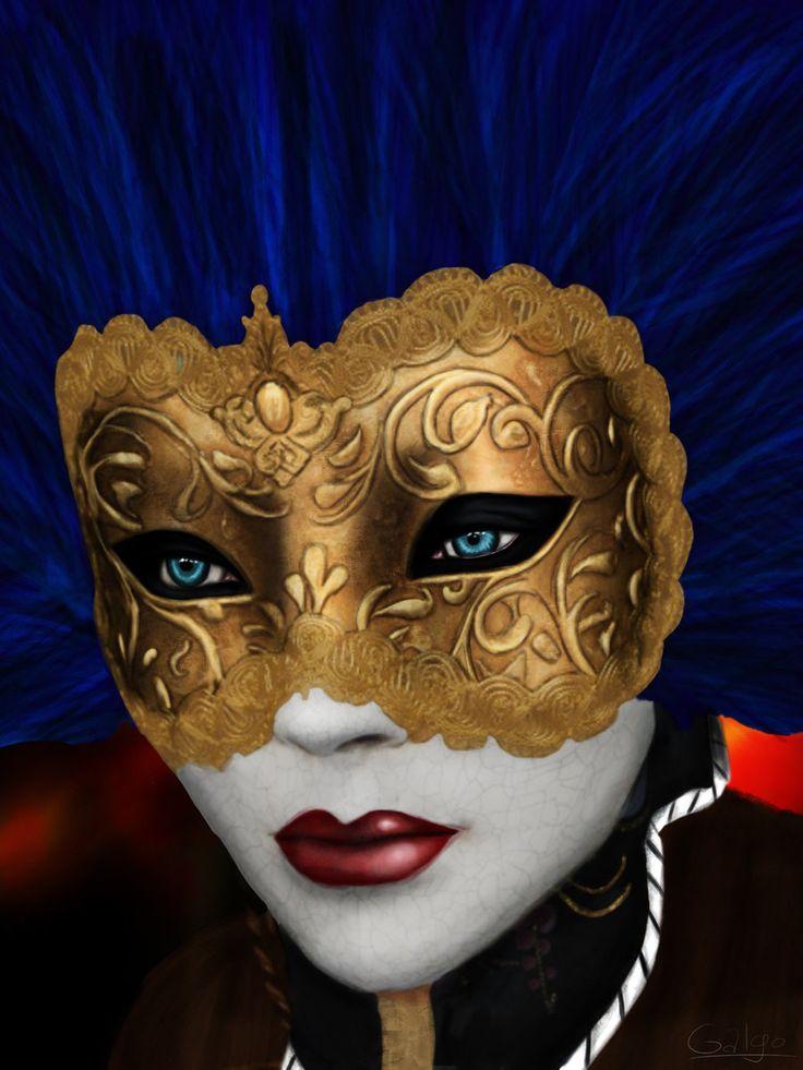 Venetian Carnival Masks   mask by galg0 digital art drawings people 2012 2013 galg0 venice mask ...