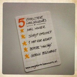 Als je e-mail je dag bepaalt: vijf effectieve gewoonten voor minder e-mailstress