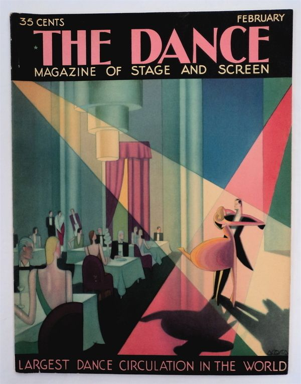 1920s Deco magazine cover, inspiration for the October Party issue