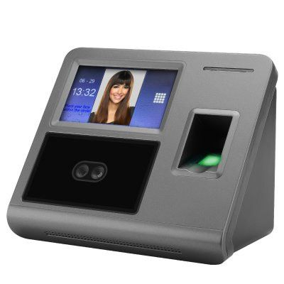 Fingerprint + Facial Recognition Attendance System - 300 Facial + 3000 Fingerprint Templates + 200000 Record Log
