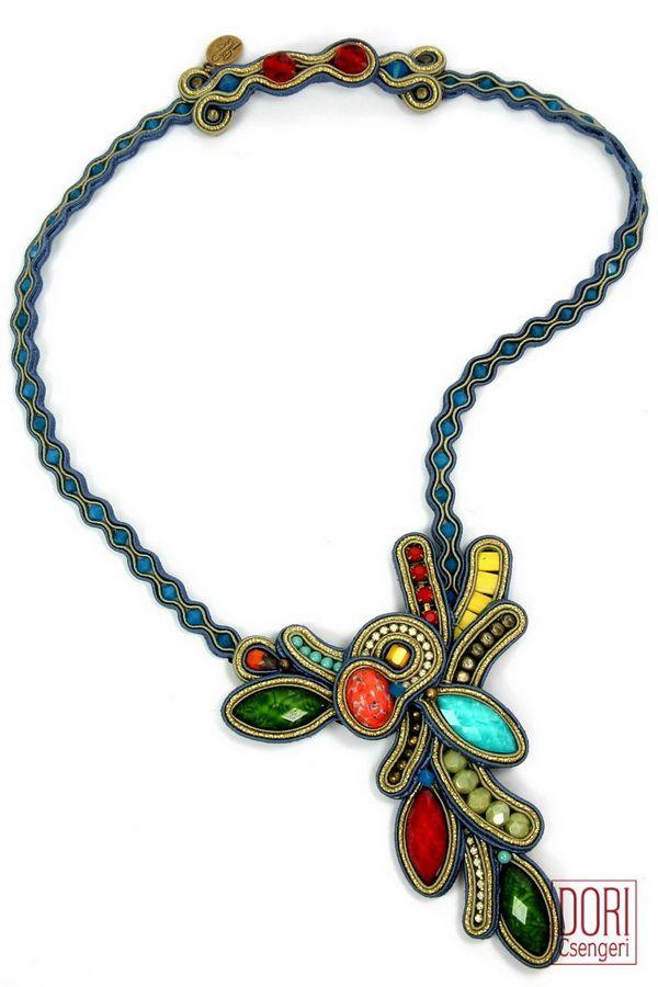 AVN-N852 , v shape necklaces , multicolor necklaces , multi color necklaces ,