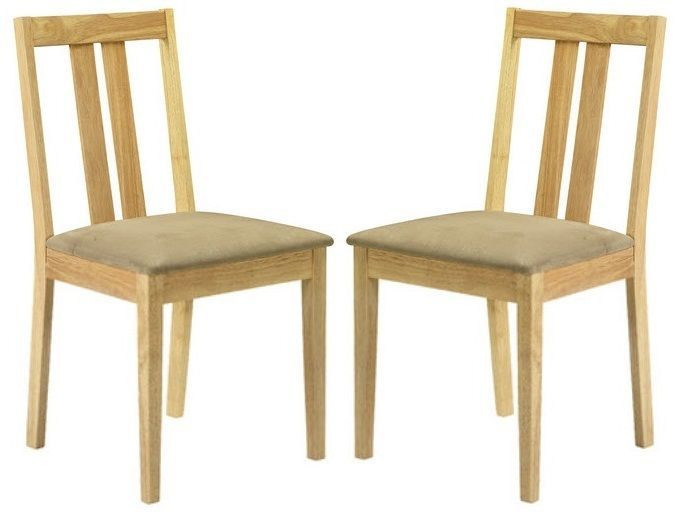 Wooden Dining Chair Furniture Solid Wood Kitchen Faux Leather Seat Pad Beige Set