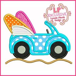 Surf Buggy Applique - 4 Sizes! | What's New | Machine Embroidery Designs | SWAKembroidery.com Lynnie Pinnie