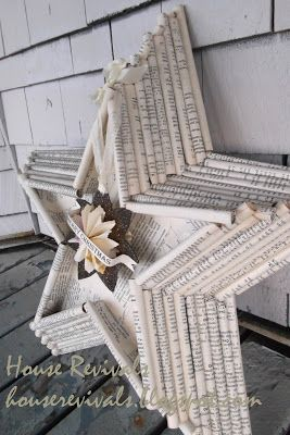 House Revivals: New Star Design from Vintage Book pages. Three-dimensional star …  – Recycle & Repurpose