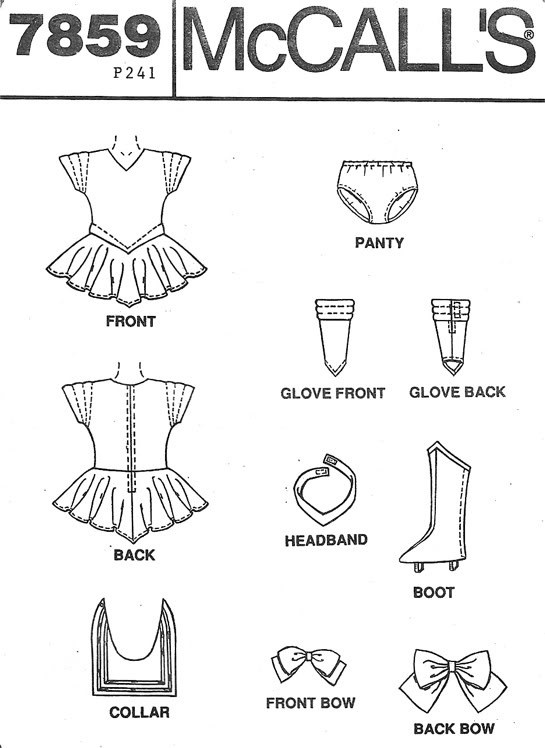 discontinued Sailor Moon Costume Pattern...to bad its for kids