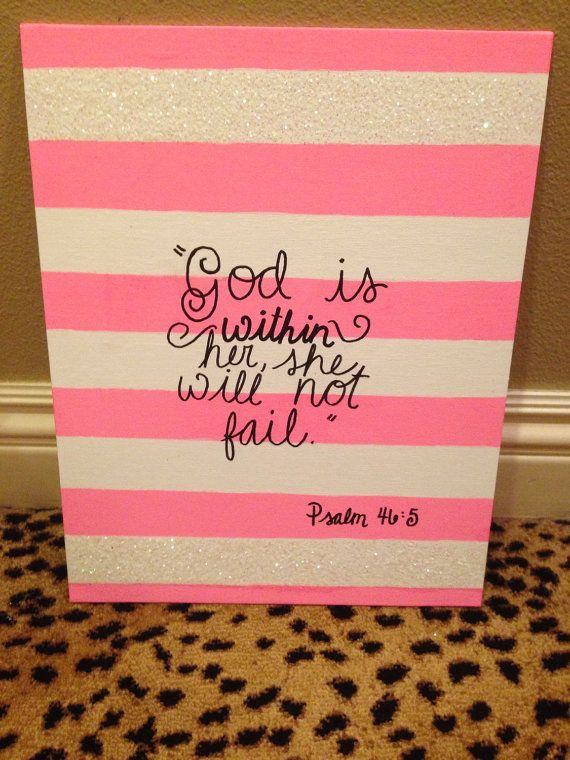 God is within her she will not fail. by BresCanvasBoutique on Etsy