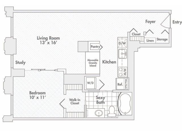 17 Best Images About Randolph Tower City Apartments Floor Plans On Pinterest
