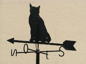 How to make a weathervane from junk, by Lynden O. Hare and posted to www.motherearthnews.com