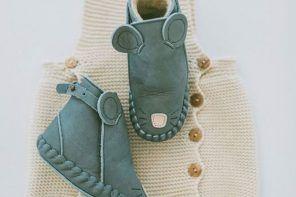 Zapatitos de piel para bebé y gorritos de Donsje Amsterdam