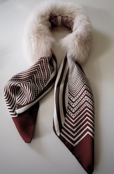 MaiTai Collection: MaiTai Collection SAGA fox fur collar in poudre