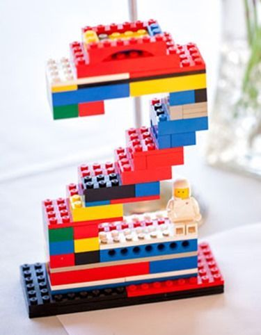 Lego Number as a Lego Birthday Party Centerpiece