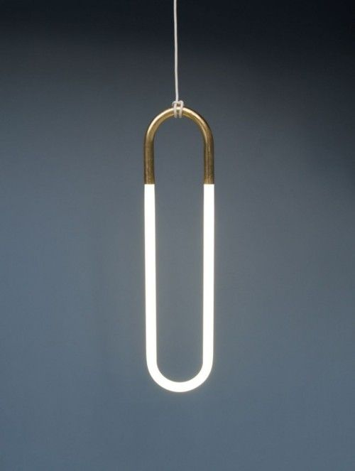 Hanging Light by Lukas Peet  Canadian designer Lukas Peet has created the Hanging Light, using an energy efficient fluorescent bulb. It literally hangs from its electrical cord. When illuminated the colour of the yellow or gold is added to the soundings.