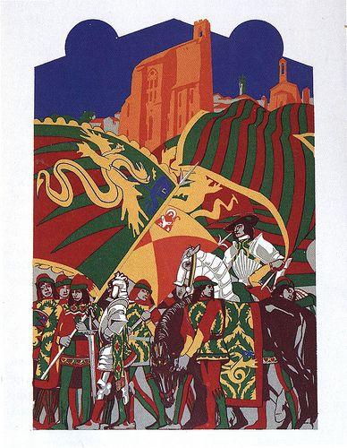 Contrada del Drago - Siena - Duilio Cambellotti 1932 #TuscanyAgriturismoGiratola
